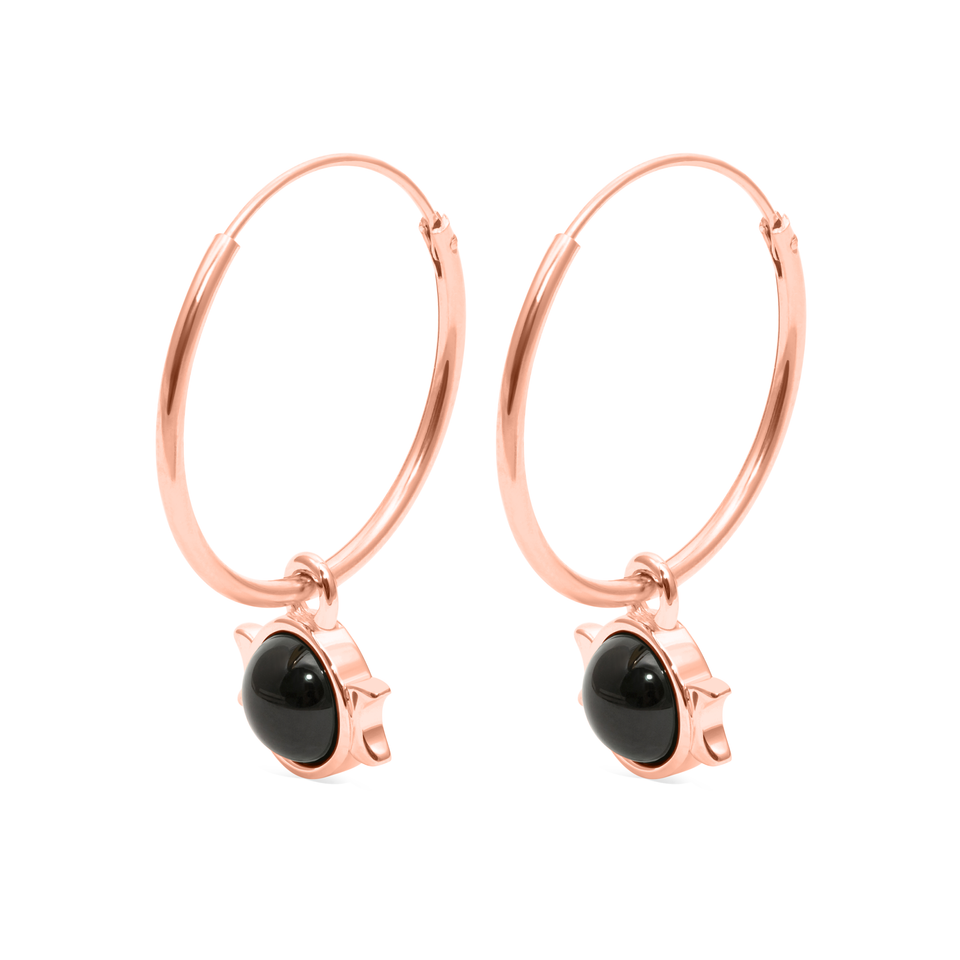 Magic Spell Ear Hoops No.1 Onyx