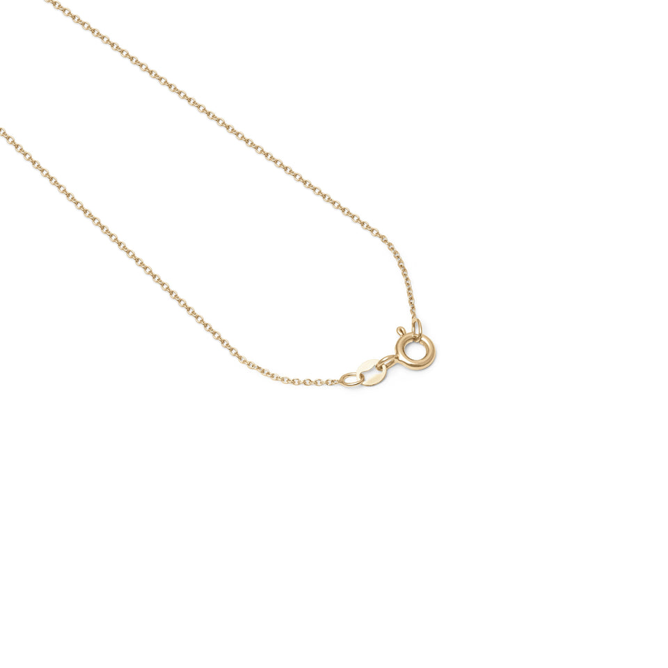 Zodiac Birthstone Necklace (Cancer) Solid Gold 14 ct