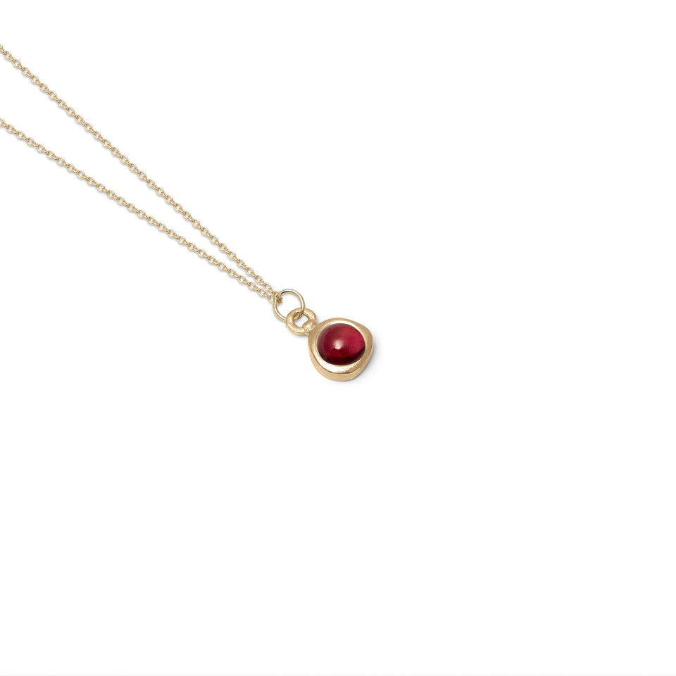 Zodiac Birthstone Necklace (Capricorn) Solid Gold 14 ct
