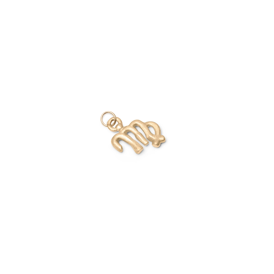 Zodiac Charm Pendant (Virgo) Solid Gold 14 ct