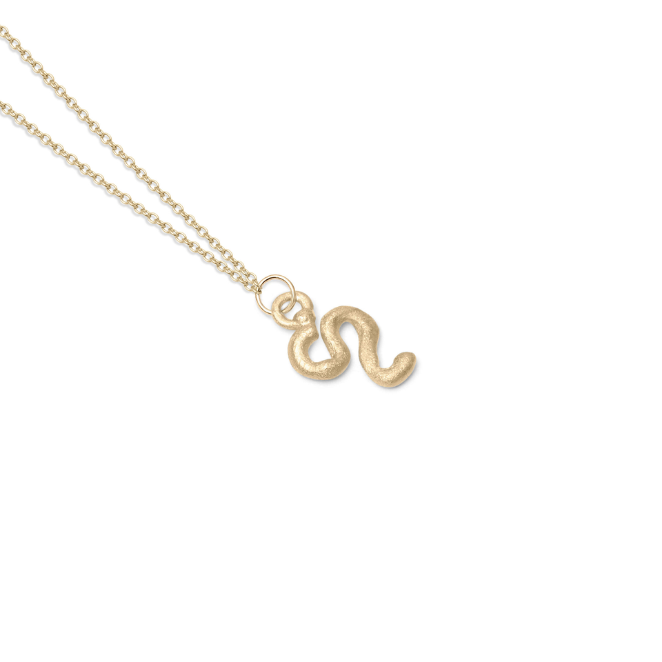 Zodiac Charm Necklace (Leo) Solid Gold 14 ct