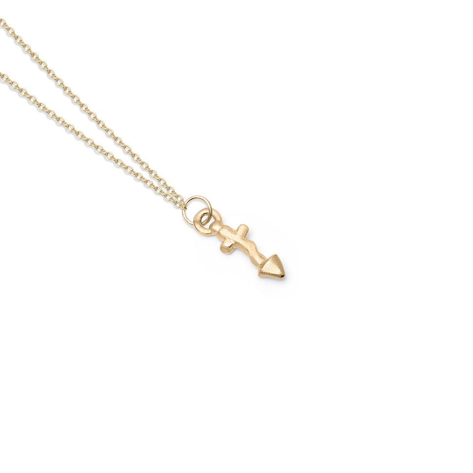 Zodiac Charm Necklace (Sagittarius) Solid Gold 14 ct