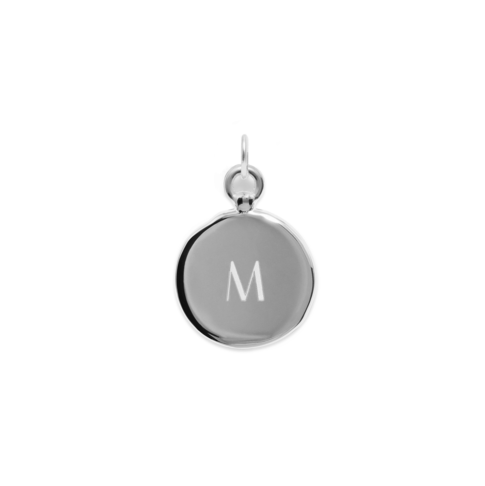Fluid Letter Medaillon Pendant - High Gloss