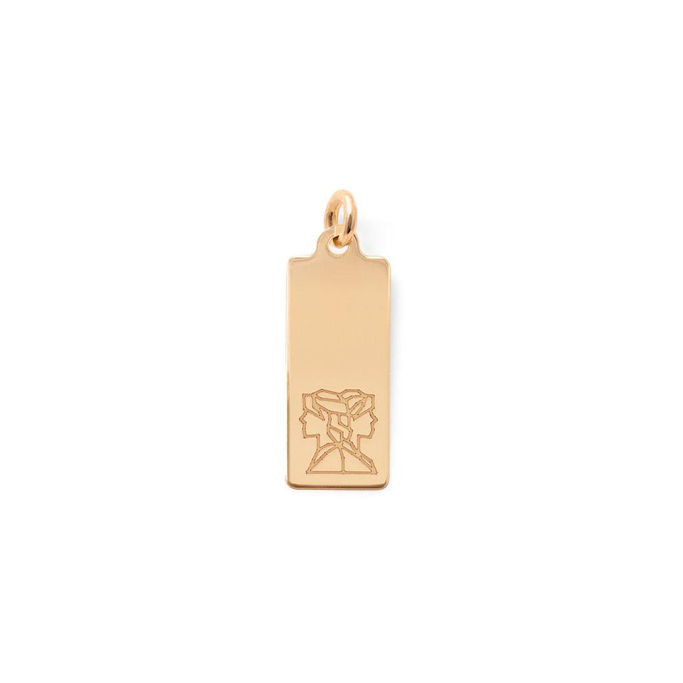 Make a Wish Gemini Tag Pendant