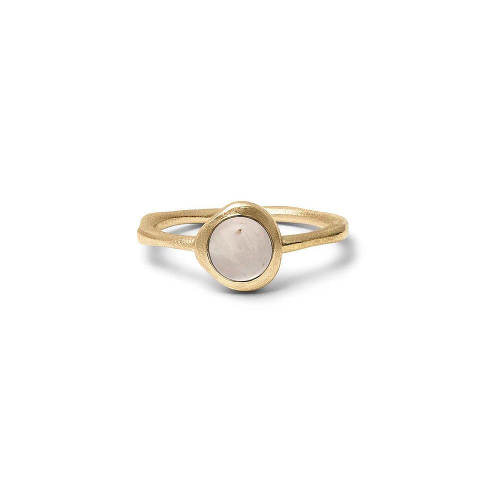 Zodiac Birthstone Ring (Gemini) Solid Gold 14 ct