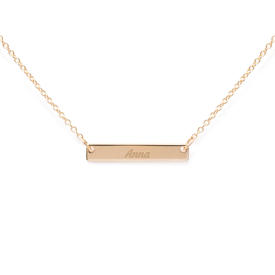 Engravable Bar Choker