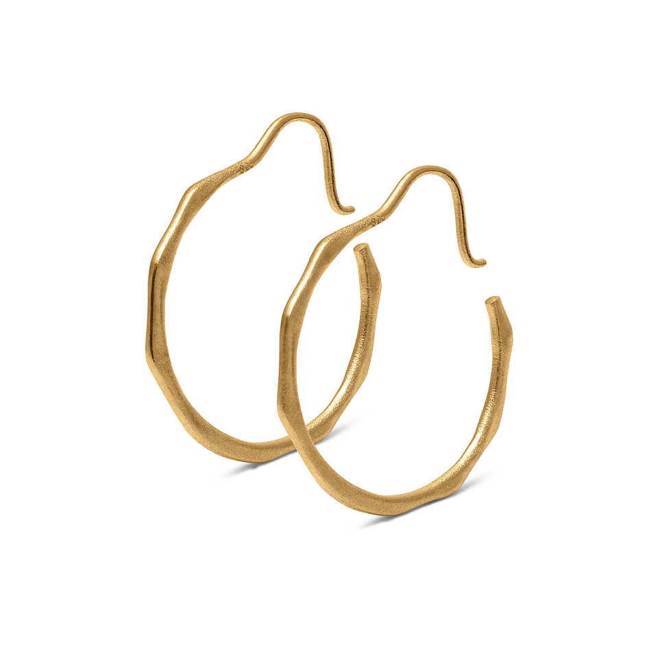 Fluid Hoop Earrings