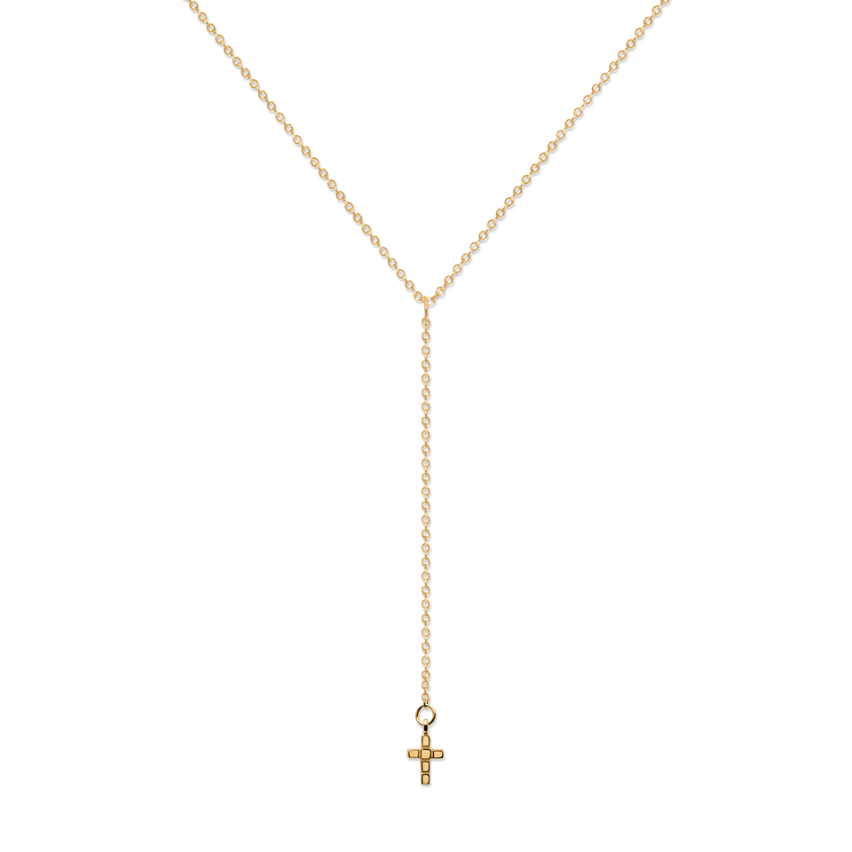 Make a Wish Cross Lariat Choker