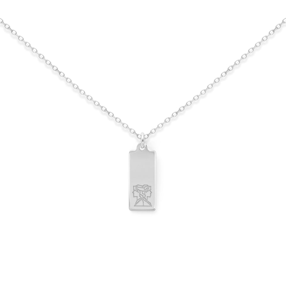 Make a Wish Gemini Tag Necklace