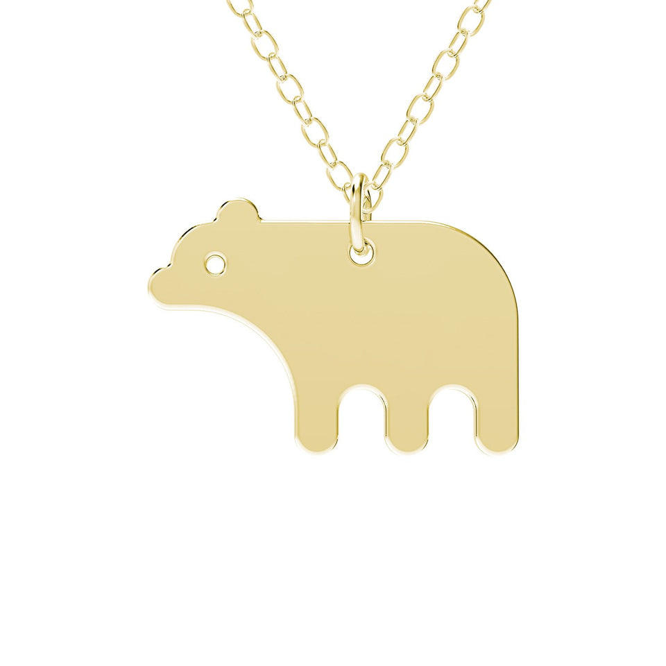 minimals bear necklace (45cm)