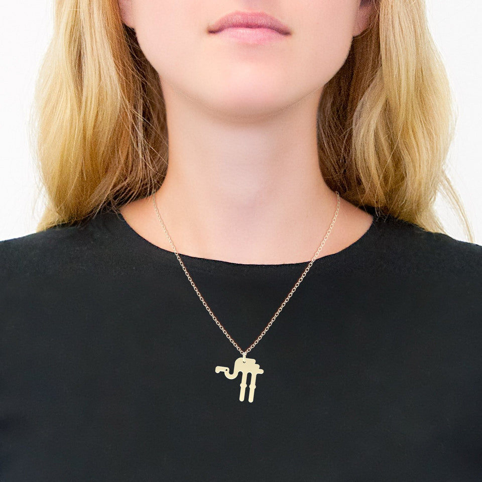 minimals flamingo necklace (45cm)
