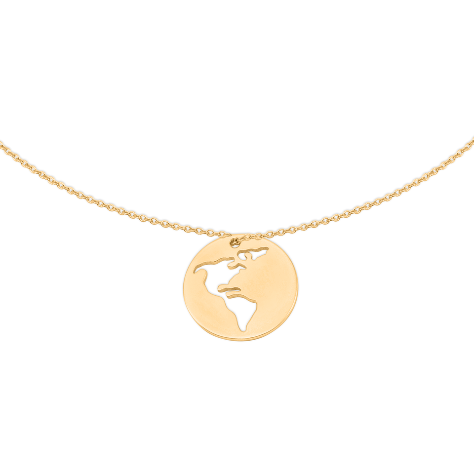 Worldmap America necklace