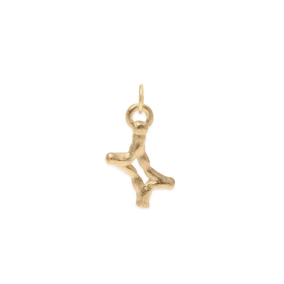 Zodiac Charm Pendant (Gemini) Solid Gold 14 ct DON'T USE