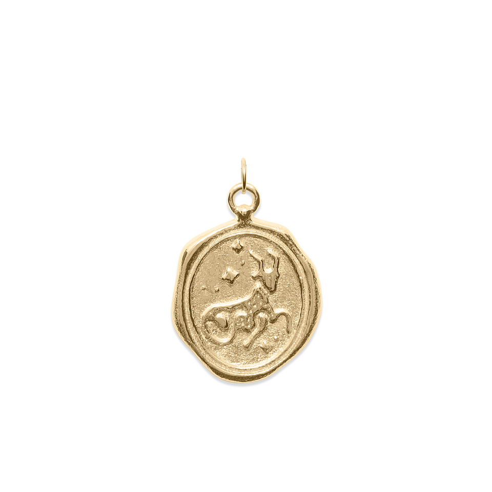 Zodiac Seal Pendant Solid Gold 14 ct DON'T USE