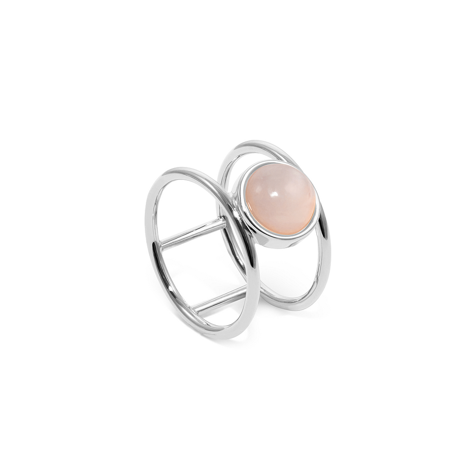 Magic Spell Double Ring Rose Quartz