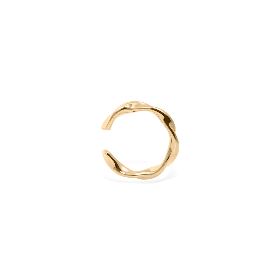 Flux Ear Cuff - Solid Gold