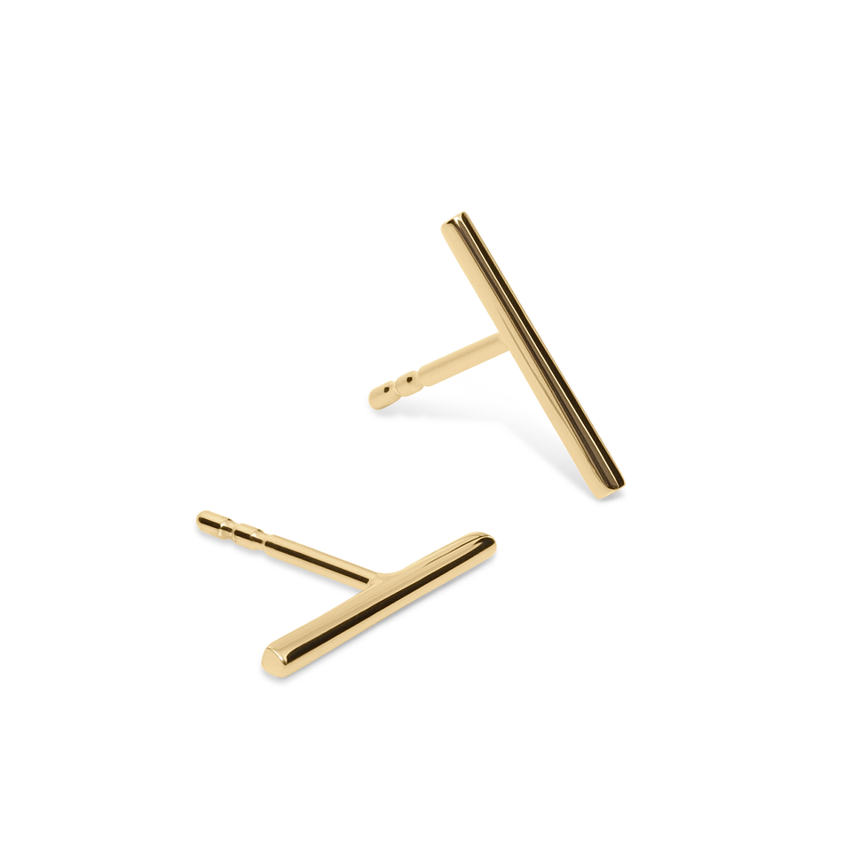Twist Bar Earrings Solid Gold 14 ct DON'T USE