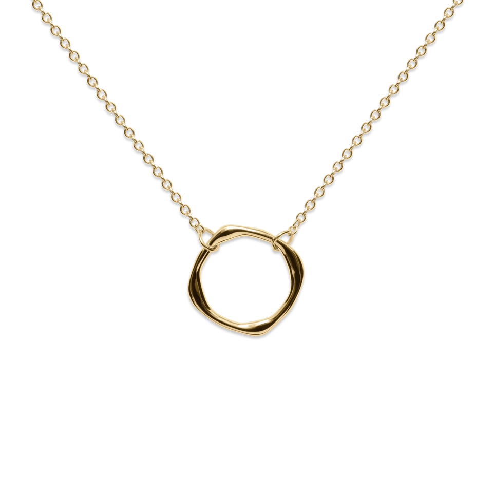 Twist Circle Necklace Solid Gold 14 ct
