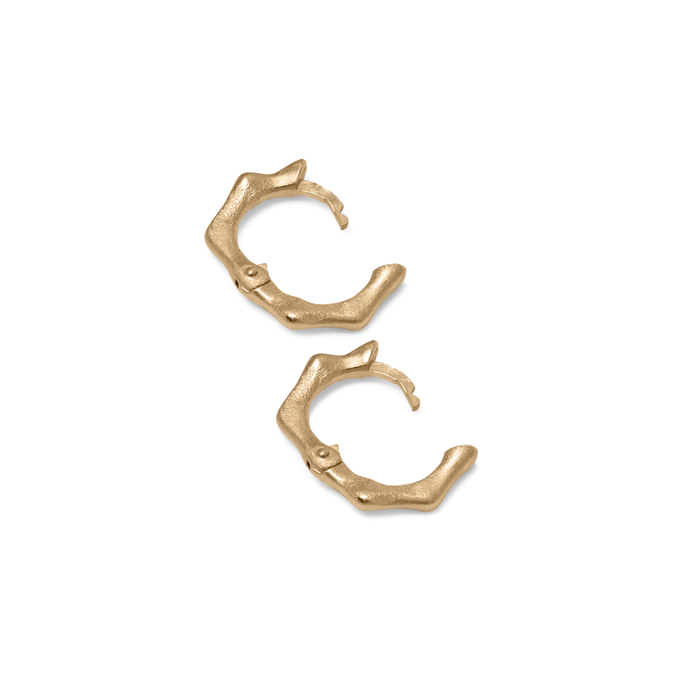 Fluid Small Hoop Earrings Solid Gold 14 ct DON'T USE