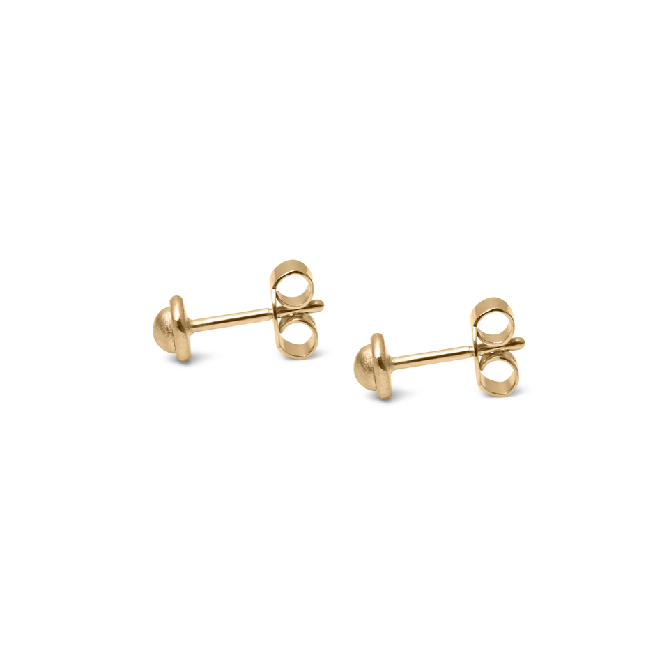 Fluid Stud Earrings Solid Gold 14 ct DON'T USE