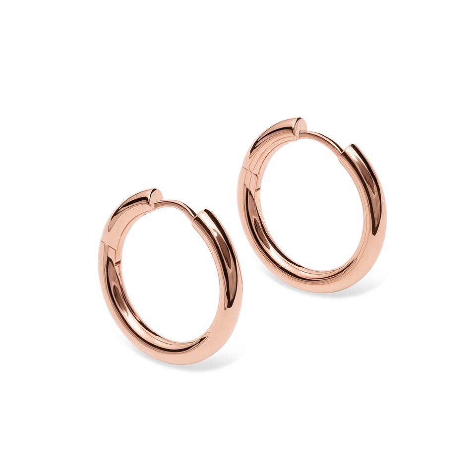 Rose Gold Vermeil Bold Hoop Earrings Stilnest