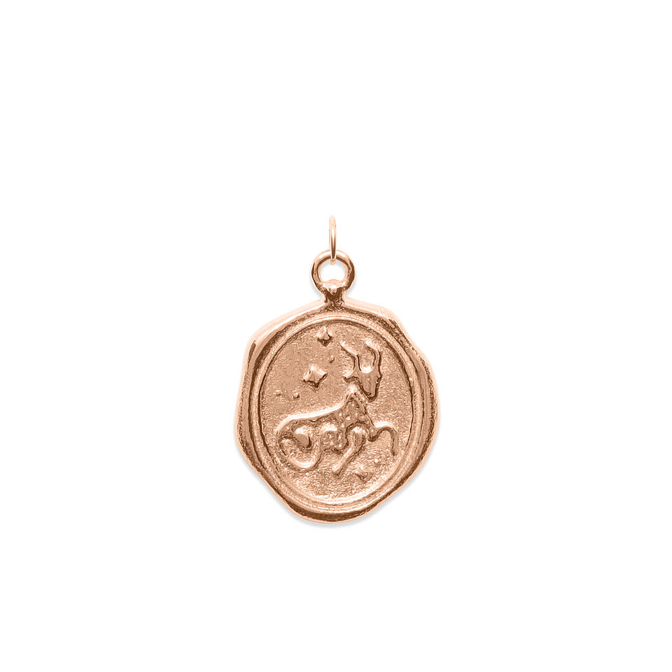 Zodiac Seal Pendant Rose gold Vermeil DON'T USE