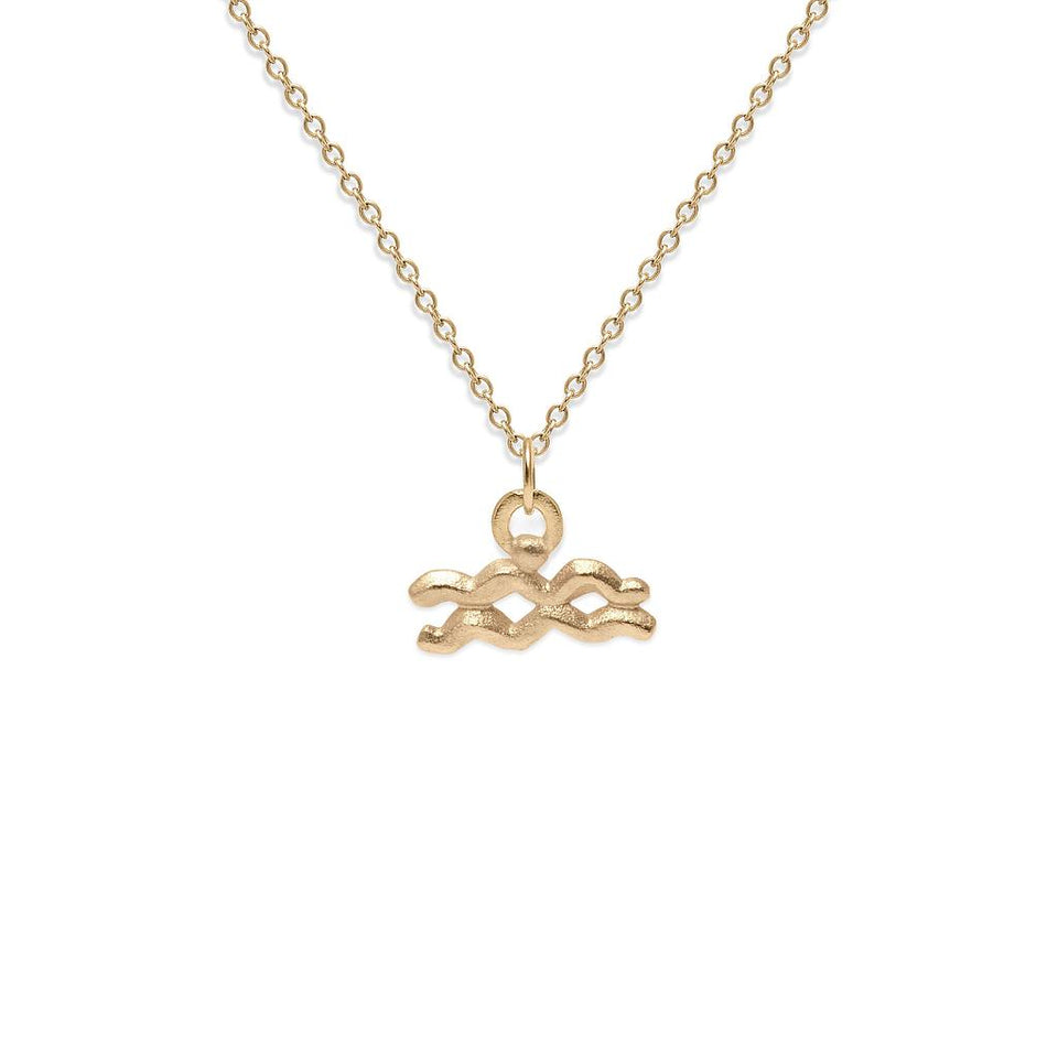 Zodiac Charm Necklace Solid Gold 14 ct