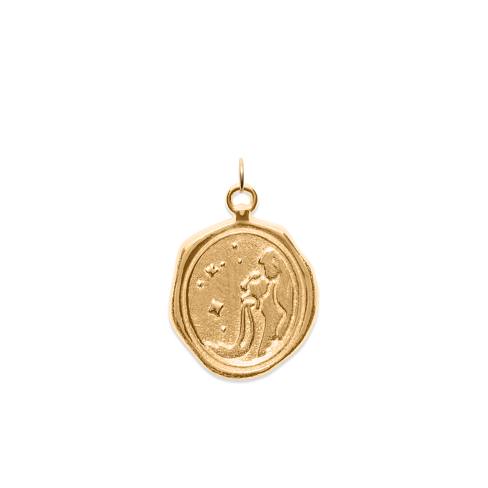 Zodiac Seal Pendant 24ct Gold Vermeil DON'T USE