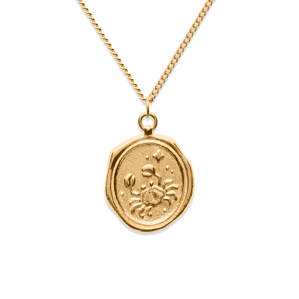 Zodiac Seal Necklace 24ct Gold Vermeil DON'T USE