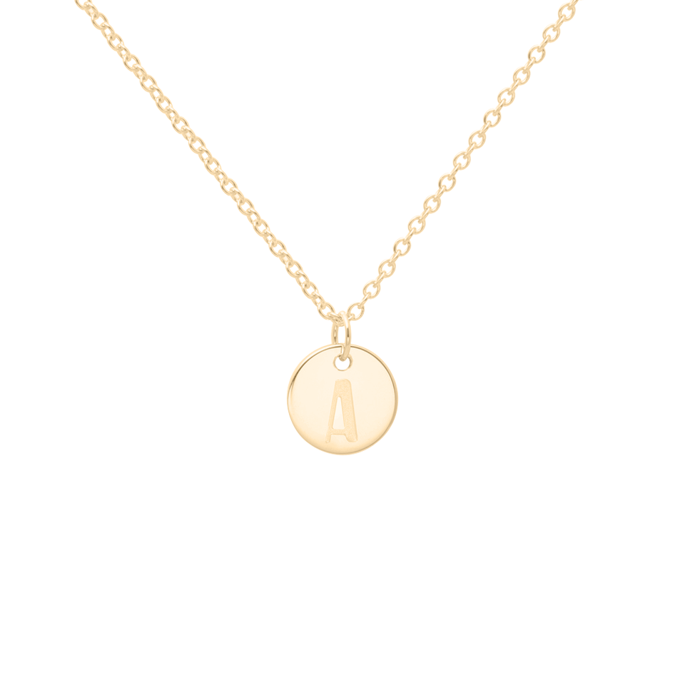 Petite Letter A-Z Necklace - Solid Gold