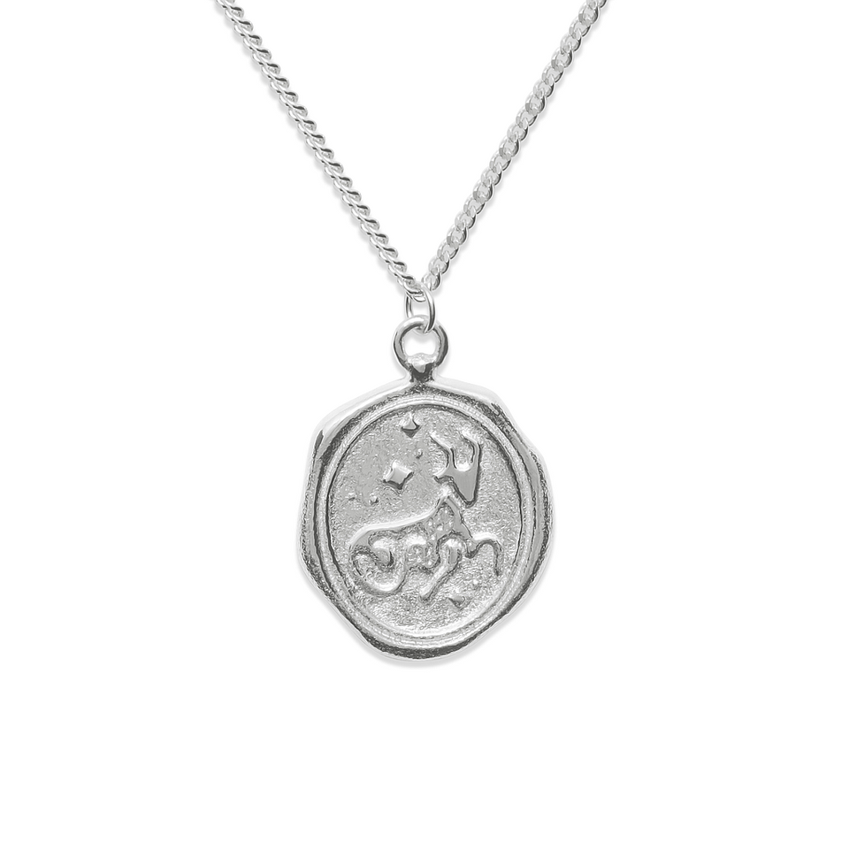Zodiac Seal Necklace 925 Silver DON'T USE