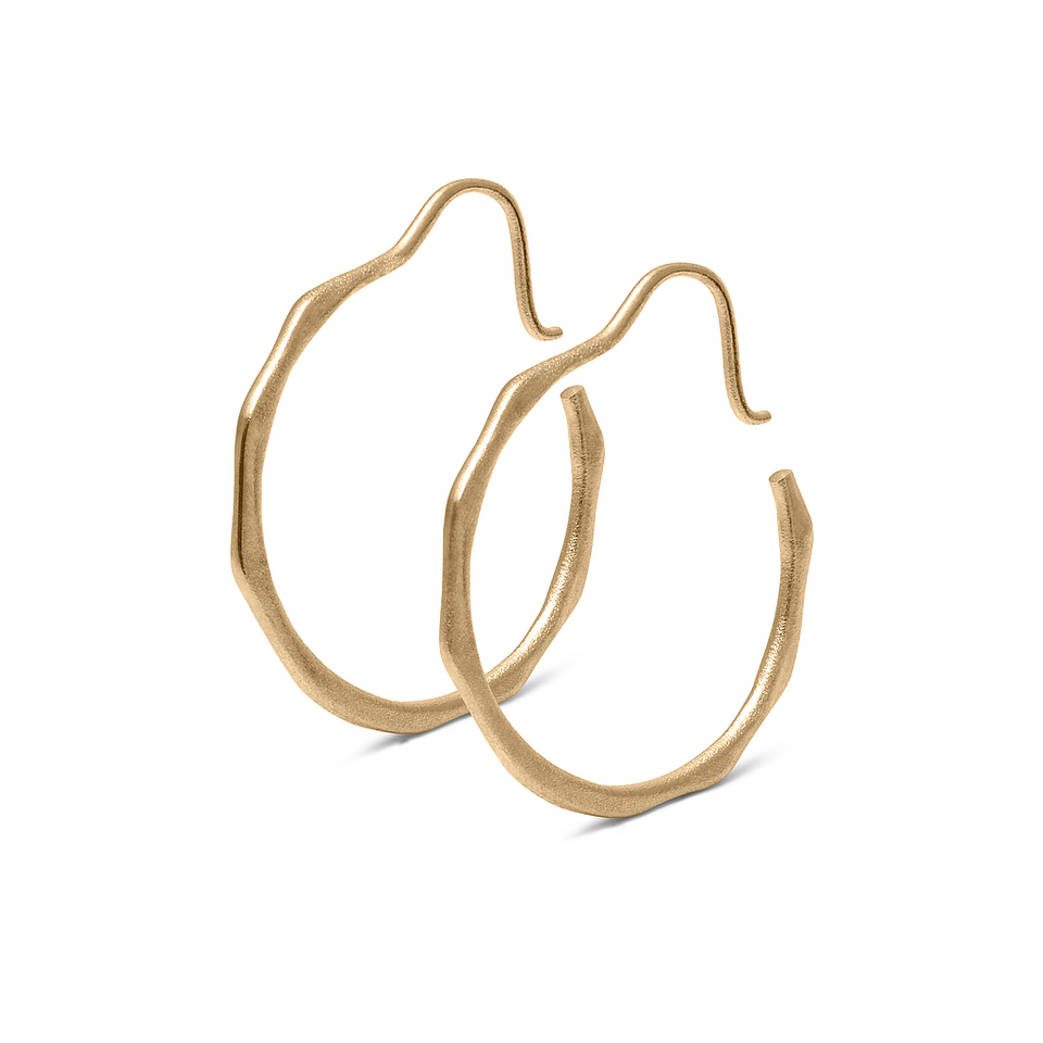 Fluid Hoop Earrings Solid Gold 14 ct DON'T USE