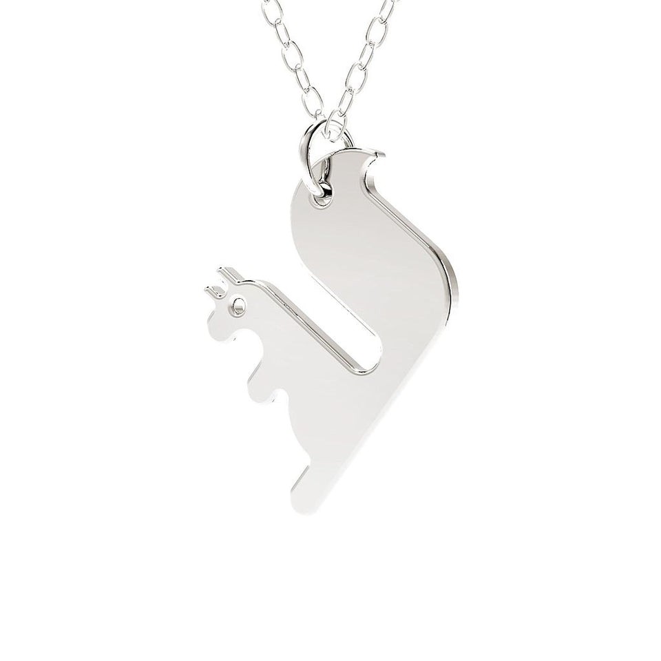 minimals squirrel necklace (45cm)
