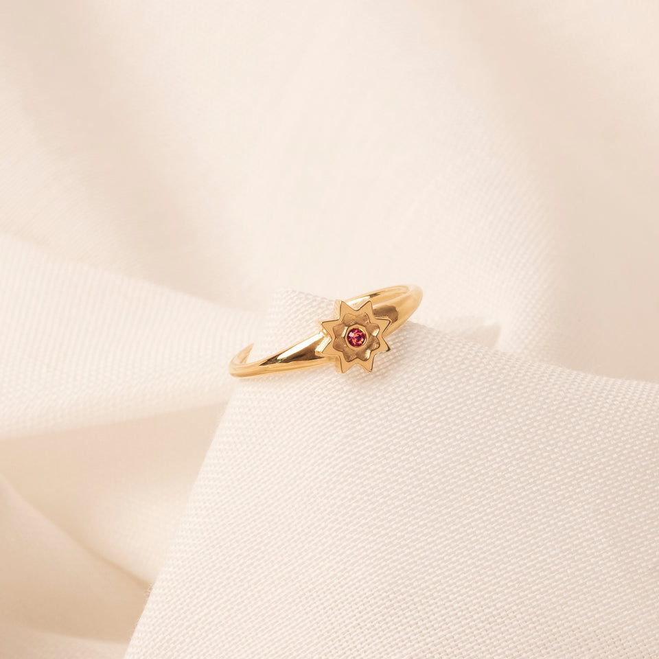 Birthstone AUG Ring