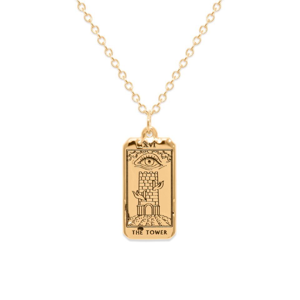 The Tower Tarot Card Necklace
