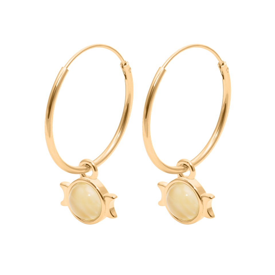 Magic Spell Ear Hoops No.1 Moonstone