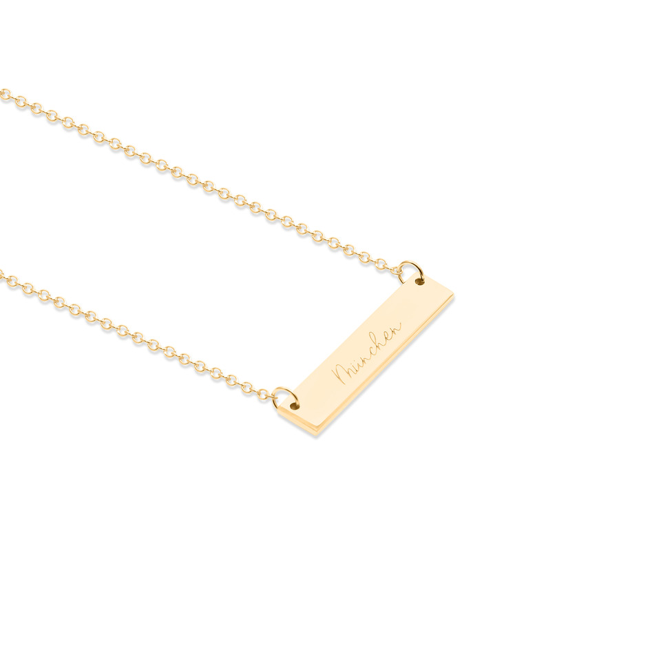 Memory Letters Bar Necklace