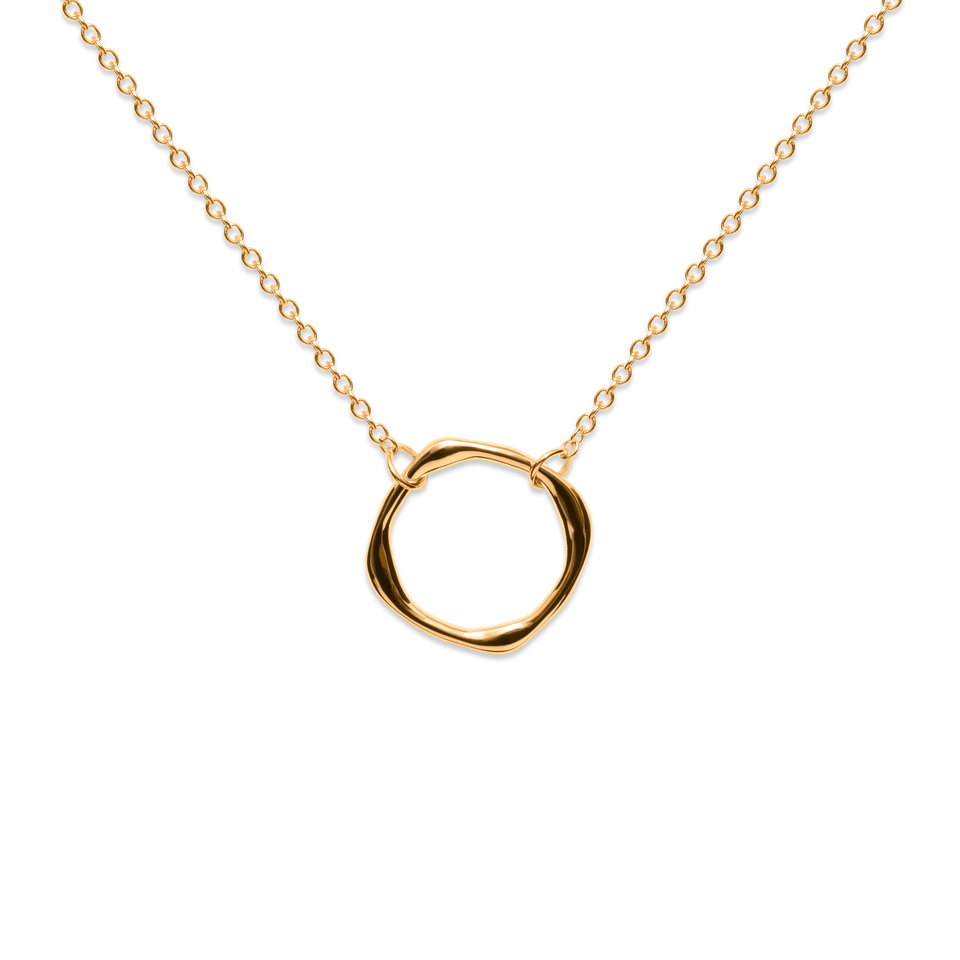 Twist Circle Necklace