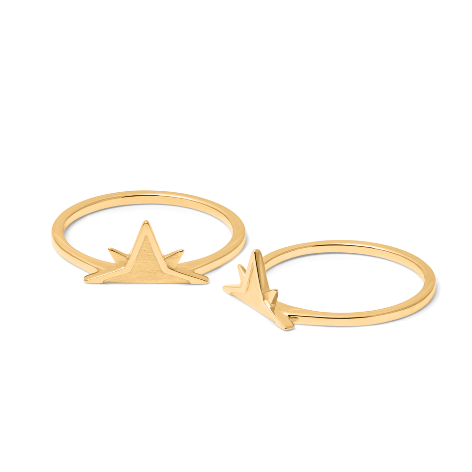 Wanderlust Stackable Ring Pair