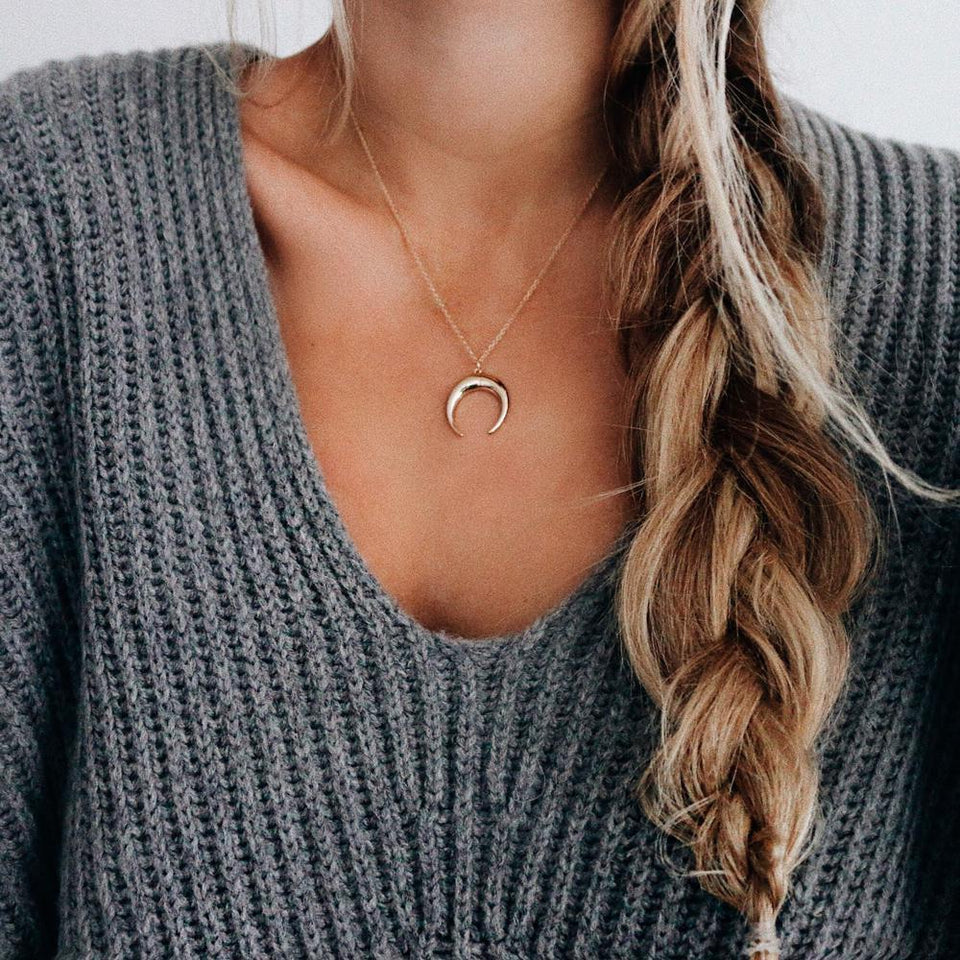 Loome and Kala Moon Necklace