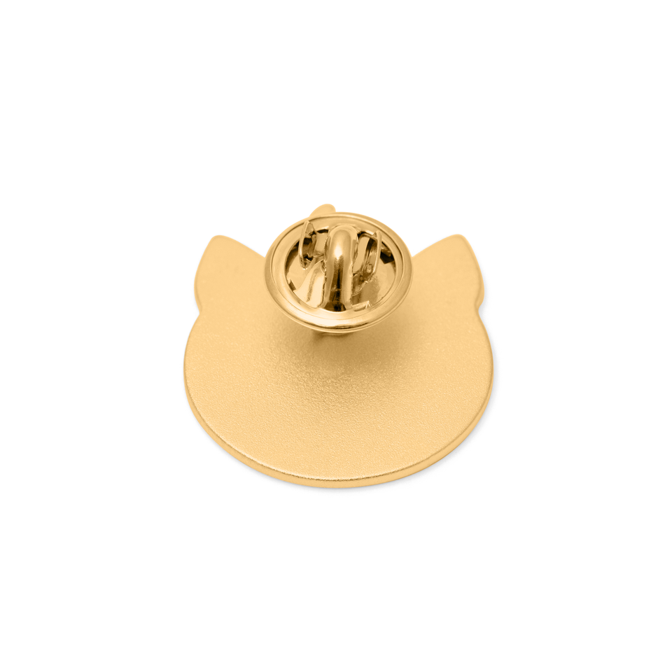 Gold Pigger Brooch