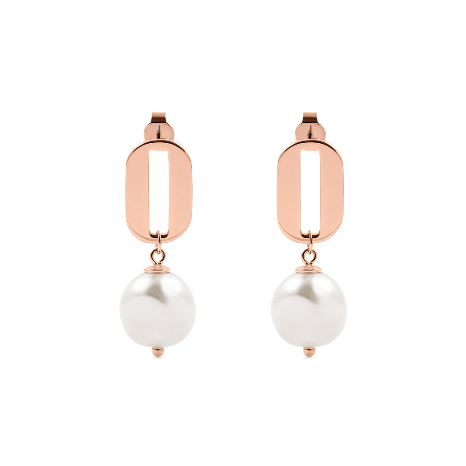 Baroque Pearl O Earrings