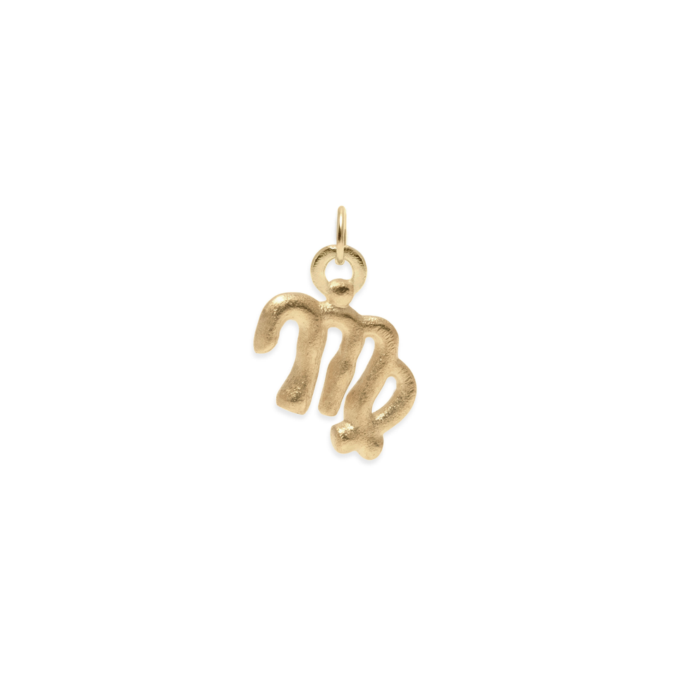 Zodiac Charm Pendant (Virgo) Solid Gold 14 ct DON'T USE