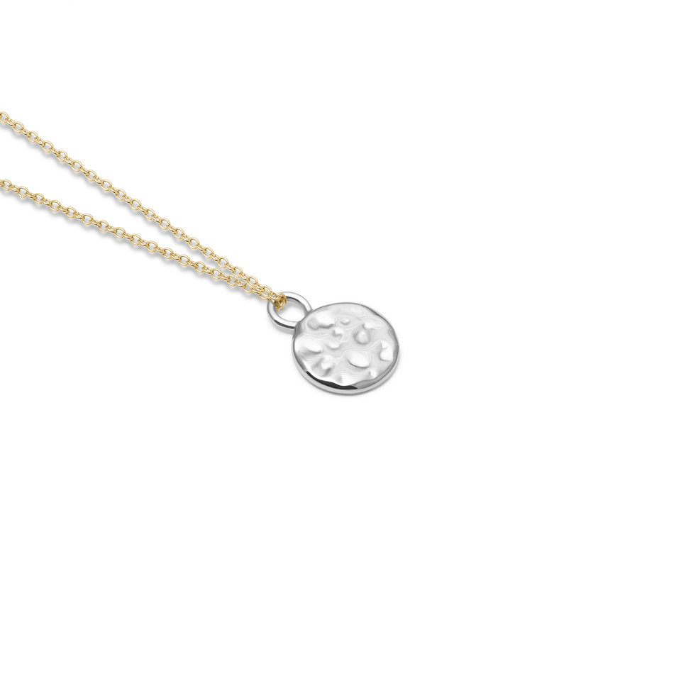 Engravable Meadow Silver + Solid Gold Anchor Chain