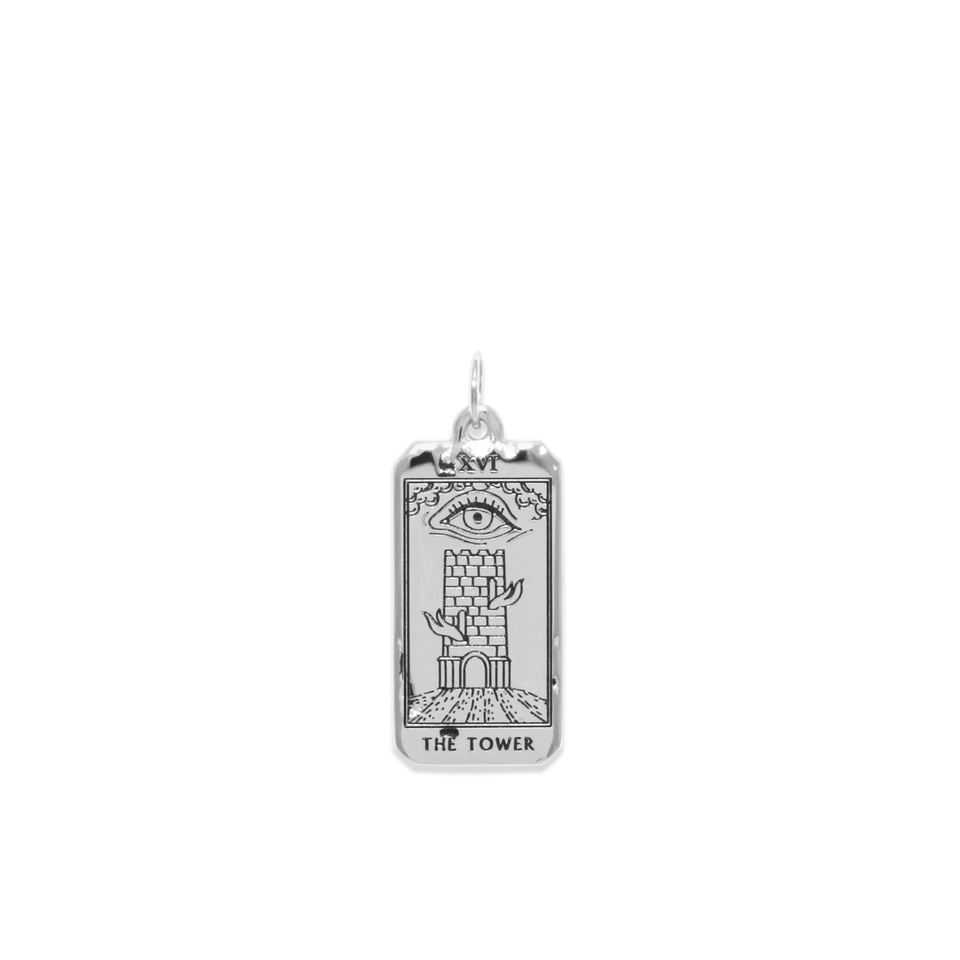 The Tower Tarot Card Pendant