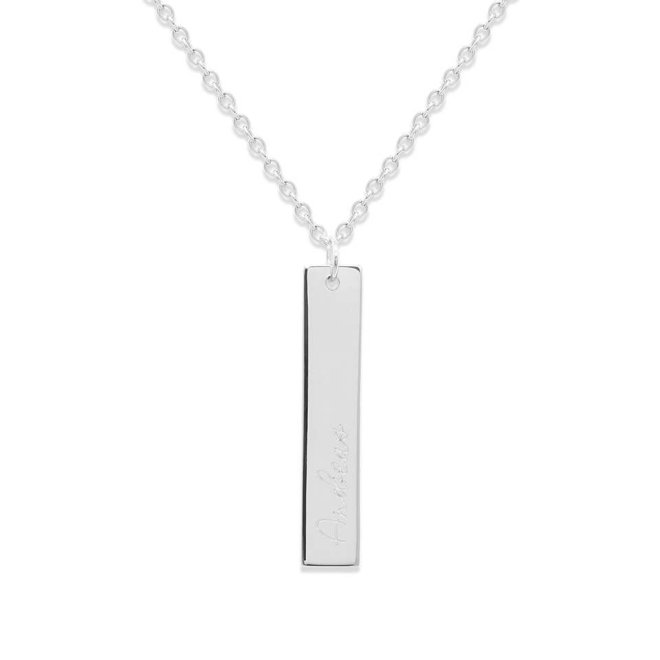 Memory Letters Tag Necklace