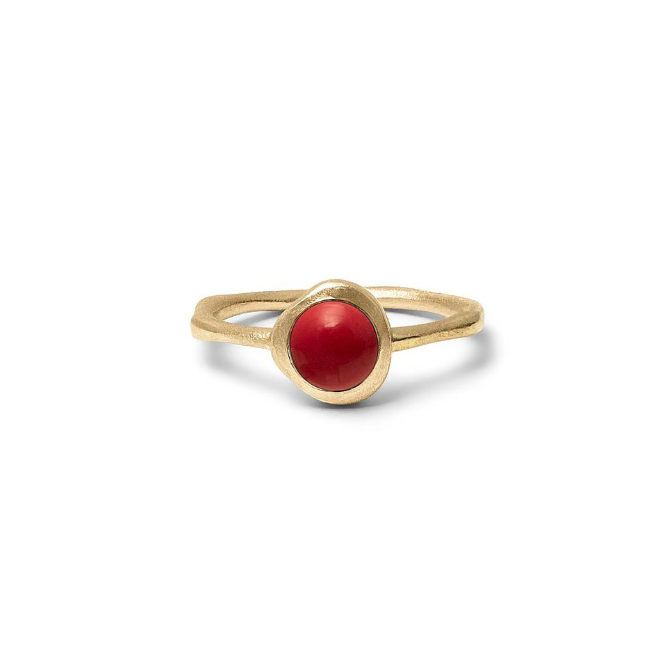 Zodiac Birthstone Ring (Aries) Solid Gold 14 ct
