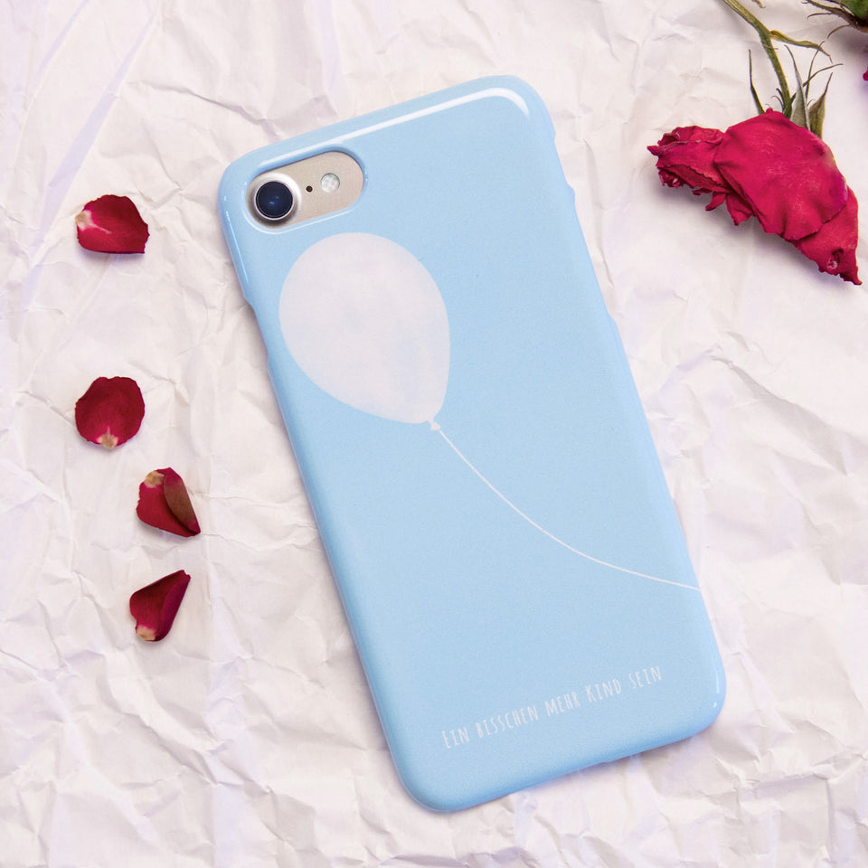 Life Joy Baloon Blue Phone Case