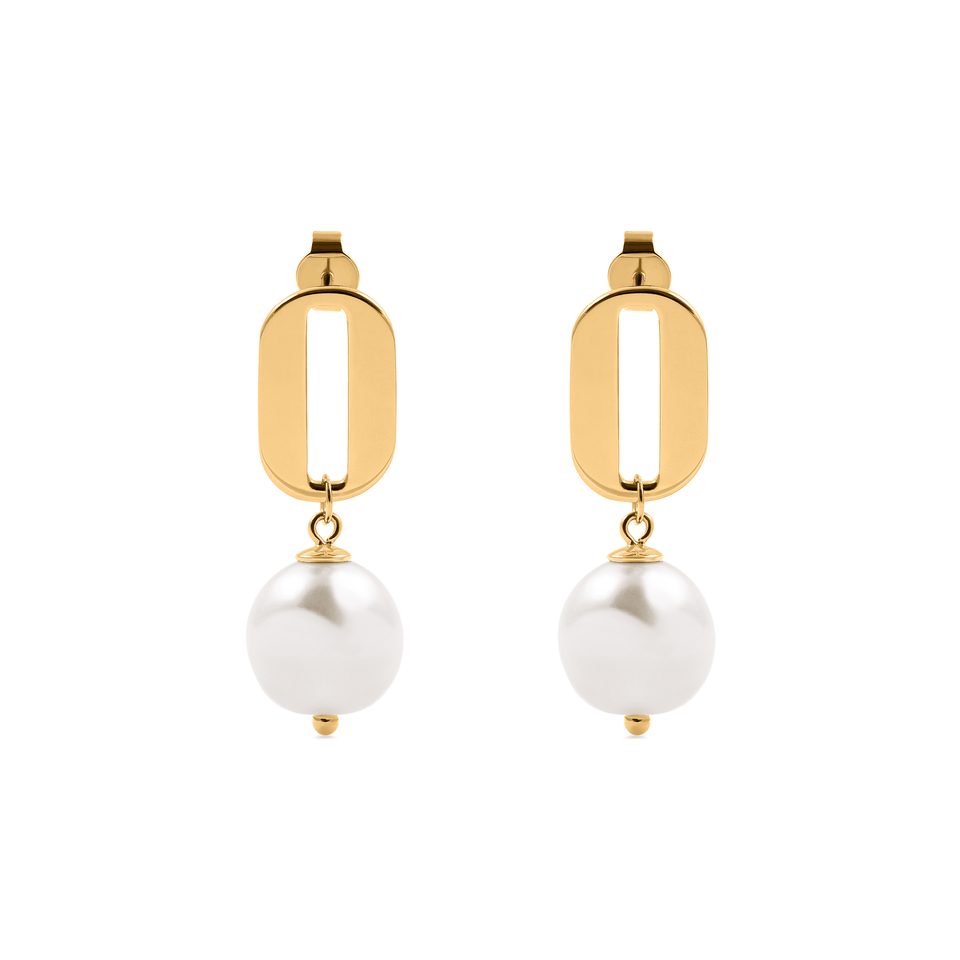 Baroque Pearl O Ohrringe Jewelry stilnest 24ct Gold Vermeil