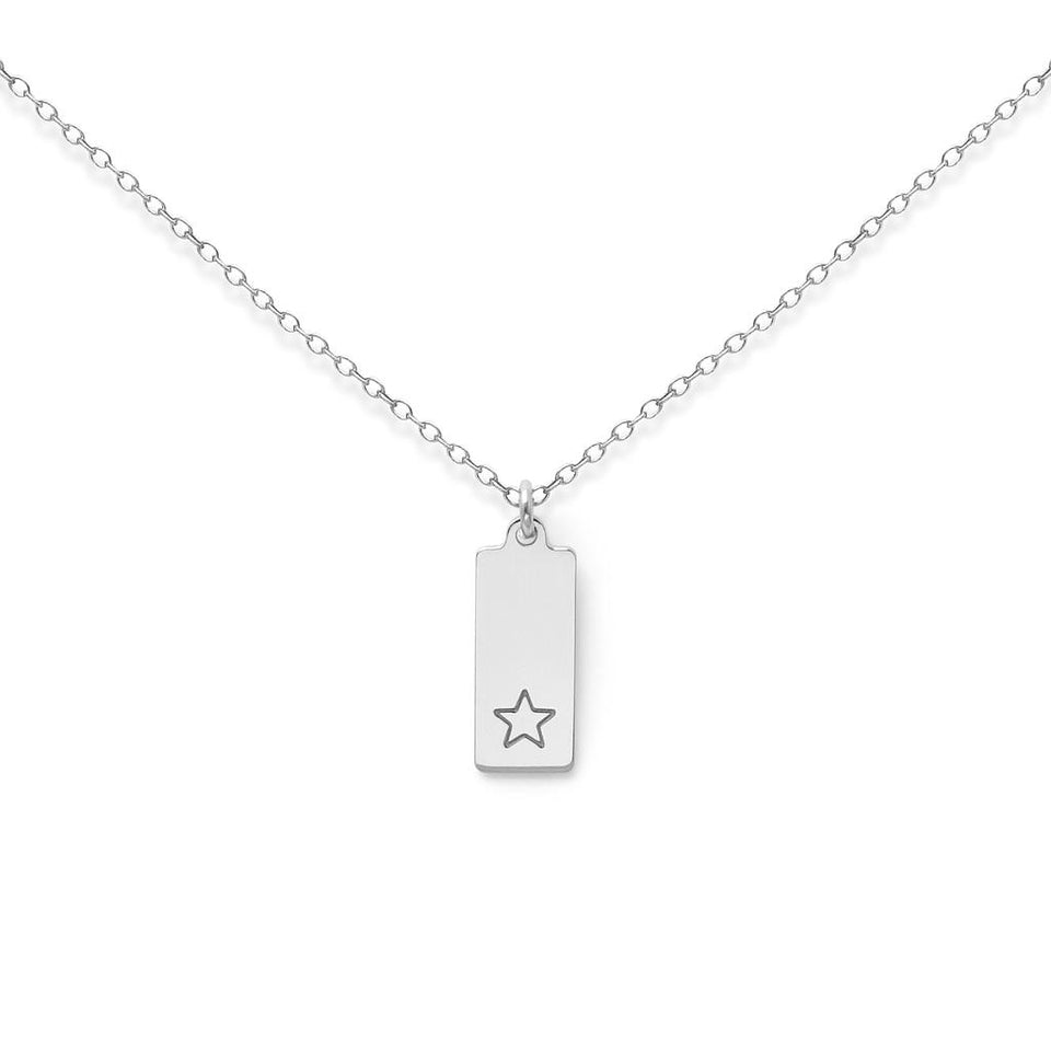 Make a Wish Star Tag Necklace